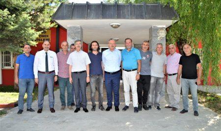 Rektörümüzden Anagold 24 Erzincanspor'a Ziyaret