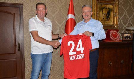 Anagold 24 Erzincanspor Kulüp Başkanından Rektörümüze Ziyaret