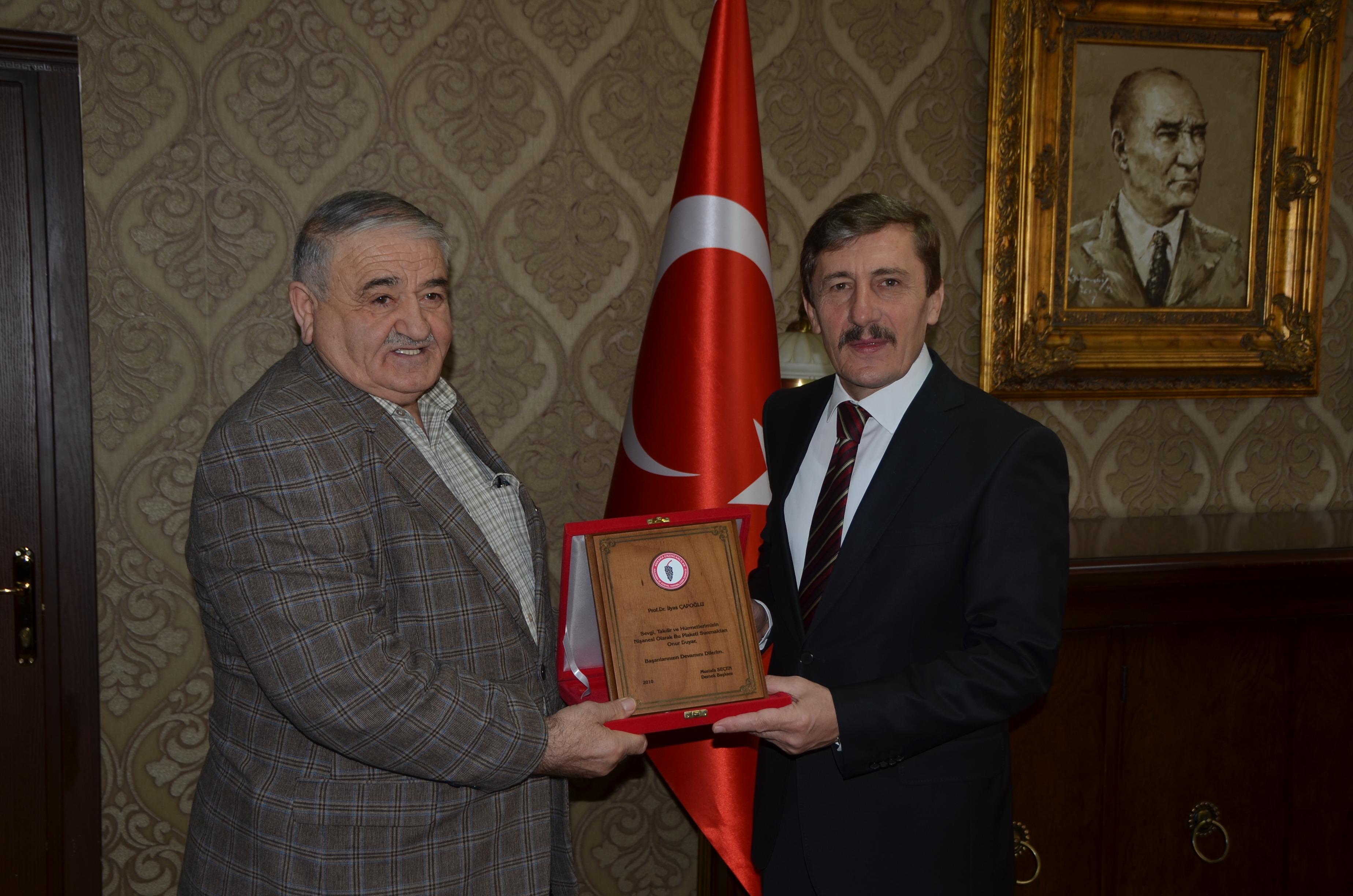 Ankara Erzincanlılar Kalkınma ve Sosyal Yardımlaşma Derneğinden Rektörümüze Ziyaret