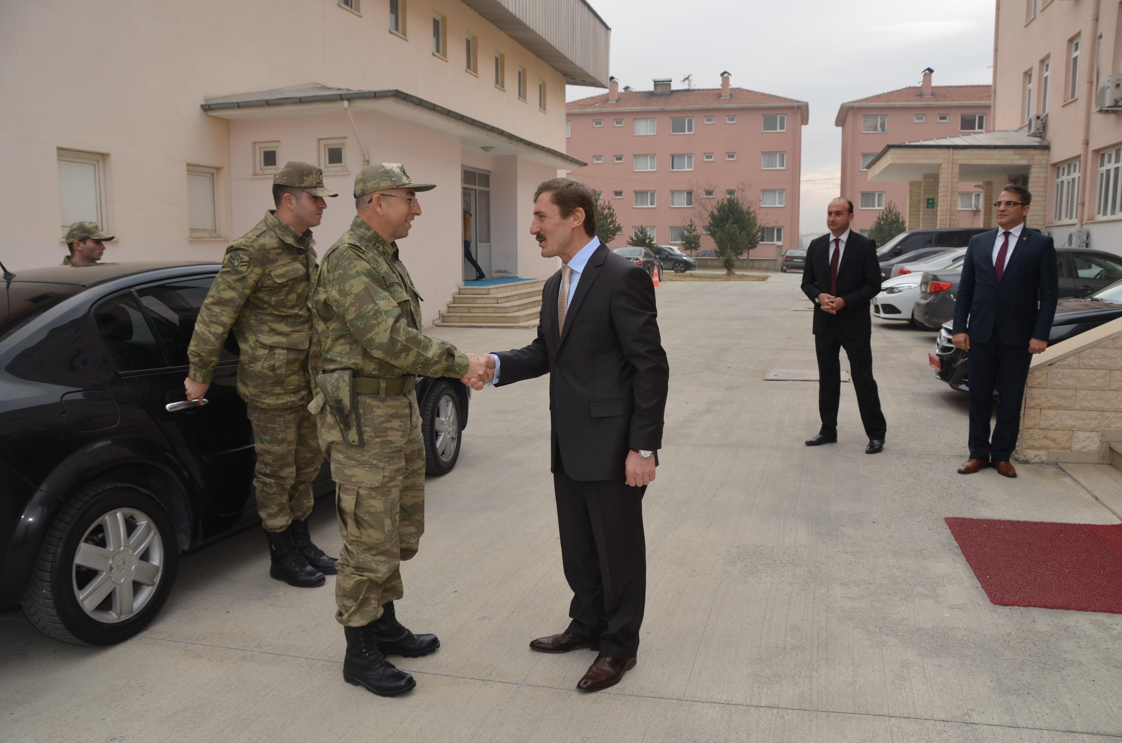 Albay Sebahattin Türker'den Rektörümüzü Ziyaret Etti