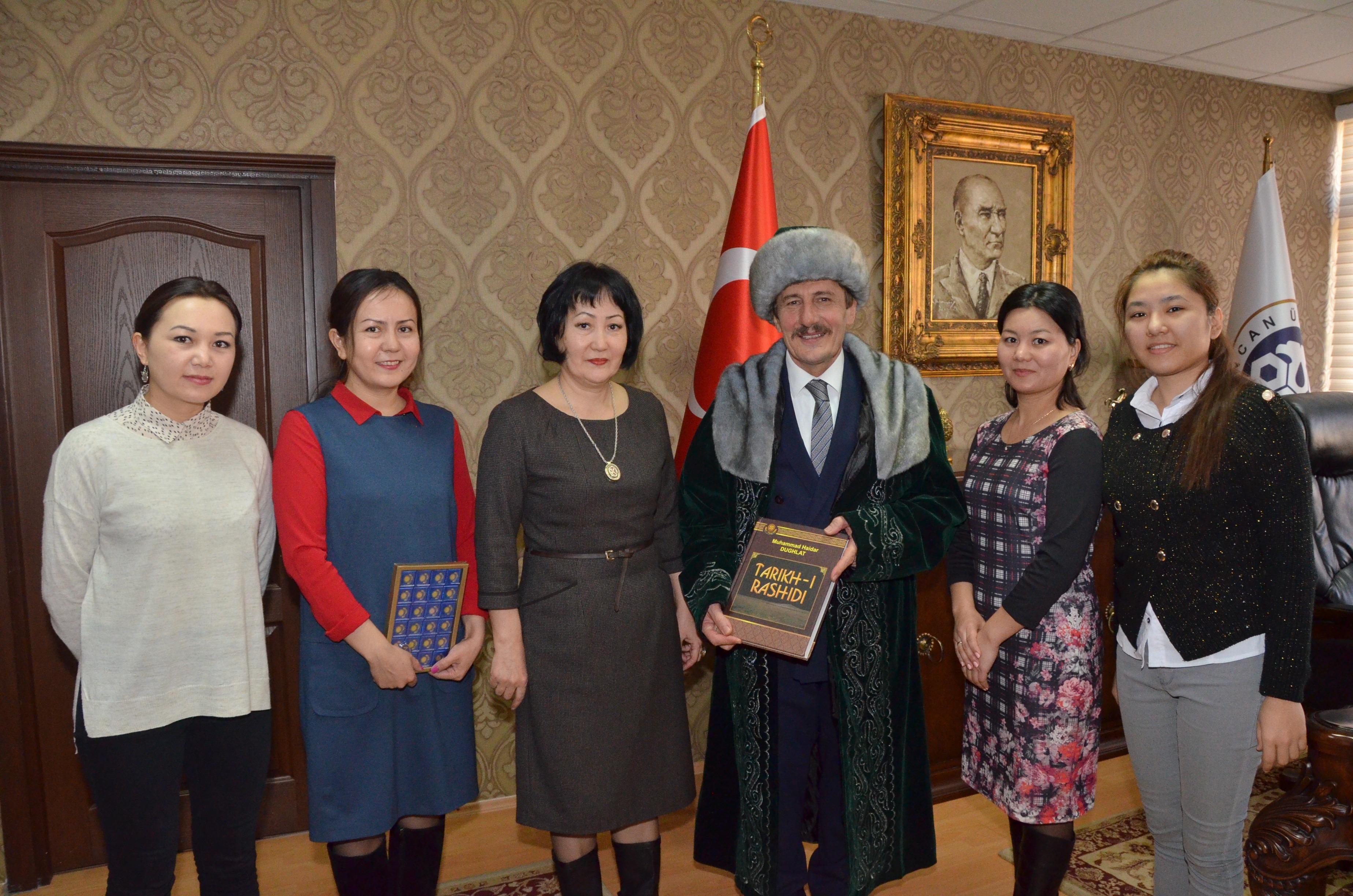 Al-Farabi Kazak Milli Üniversitesinden Rektörümüze Ziyaret