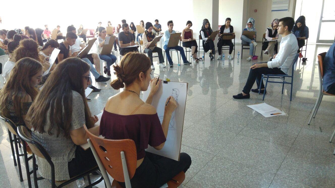 Güzel Sanatlar Eğitimi Bölümü –Resim İş Eğitimi ABD Yetenek Sınavı Yapıldı