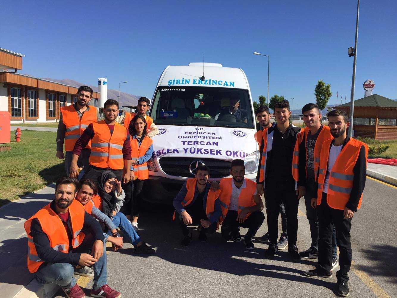 Tercan MYO Öğrencilerinden Teknik Gezi