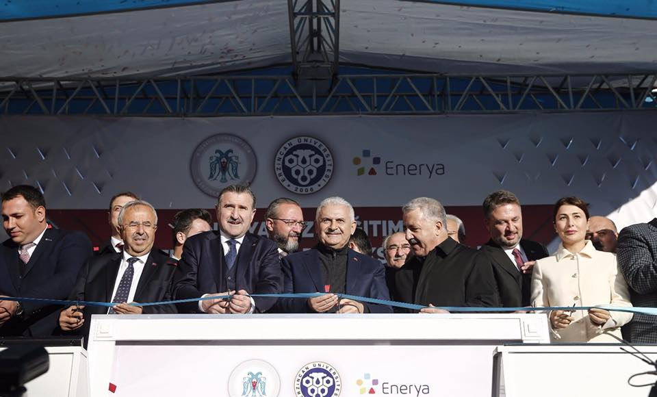Prime Minister Binali YILDIRIM has laid the foundation of new building of Refahiye Vocational School