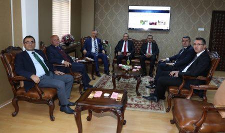 Erzurum Protokolünden Rektörümüze Ziyaret