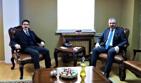 Erzincan Adalet  Komisyonu Başkanı Odabaş'tan  Rektörümüze Ziyaret