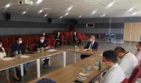Üniversitemiz Rektörü Prof. Dr. Akın Levent Başkanlığında Pandemi Kurulu Toplantısı Yapıldı